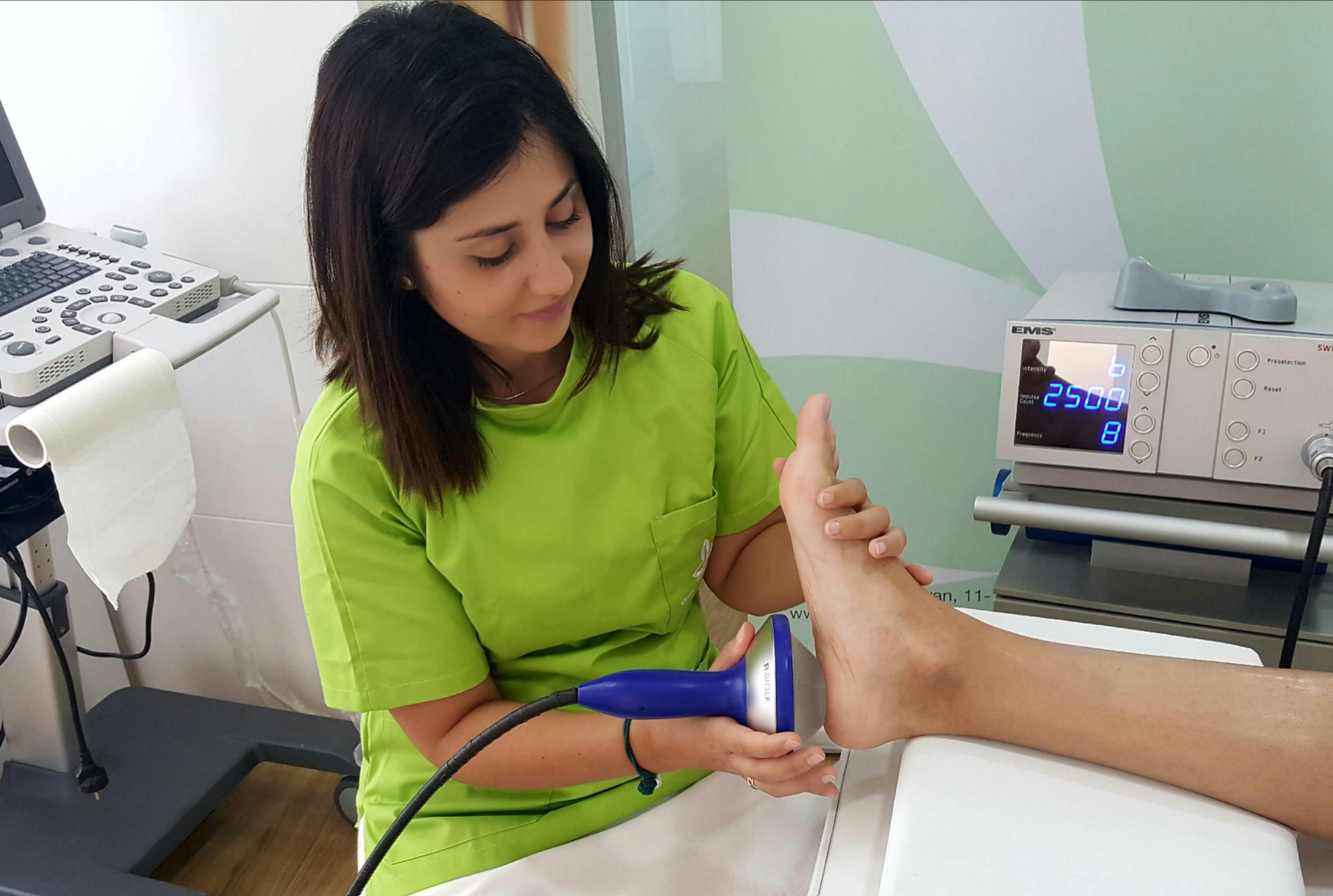 ondas de choque para dolor en el pie